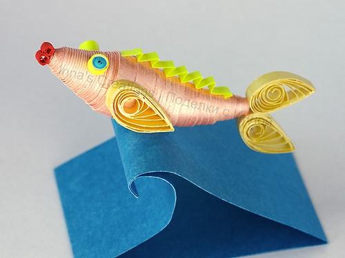 поделка рыбак из бумаги